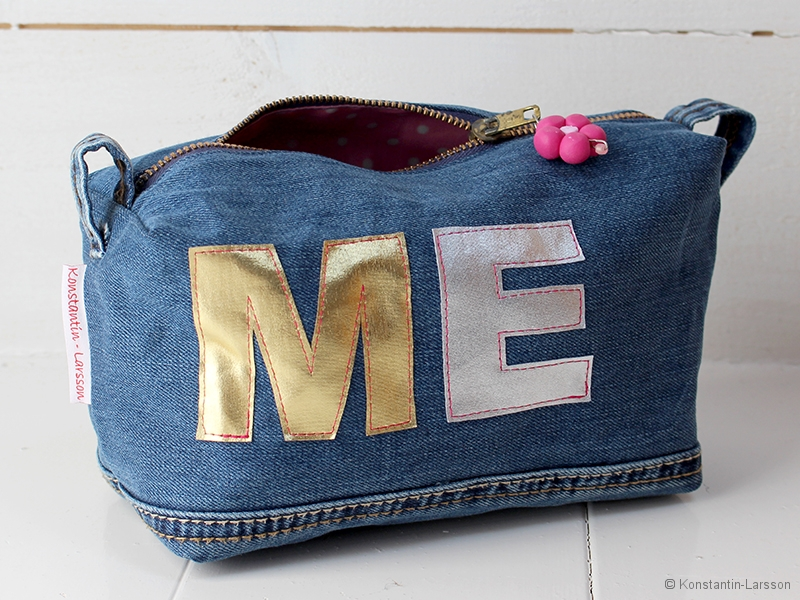 Denim with initials
