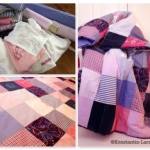 patchwork cover white-blue-pink