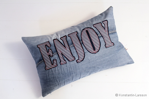 C, jeans Enjoy navy, striped