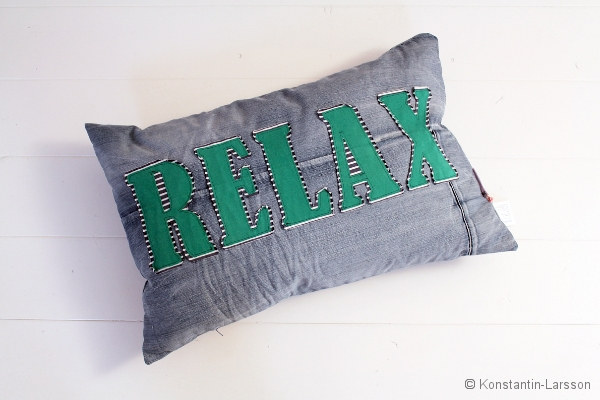 C, jeans RELAX striped, green