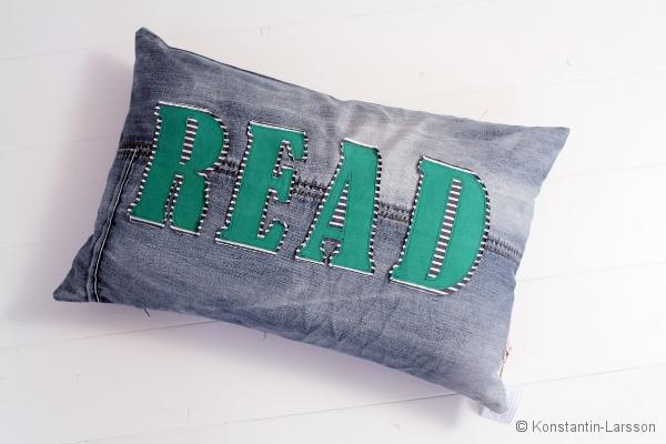 C, jeans READ striped, green