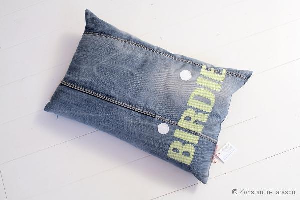 C, jeans BIRDIE checked-lightgreen