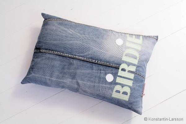 C, jeans BIRDIE striped-lightgreen-white