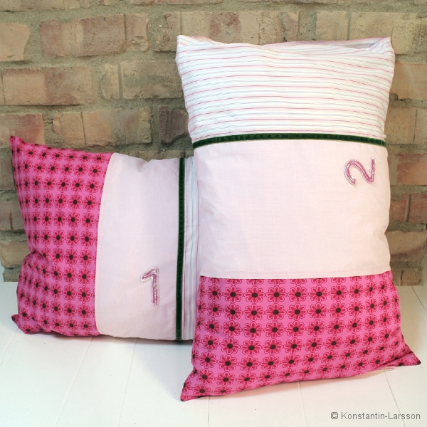 C, rose, striped-white-pink, flowered with number1/2