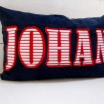 C, jeans Johan red, striped
