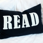 C, black READ offwhite
