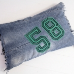 C, jeans fringed big green 58