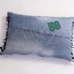 C, jeans fringed small green 58