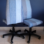 Office chair covers striped