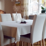 Dining chair covers, white